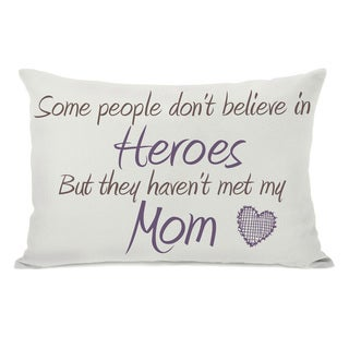 Heroes Mom Throw Pillow