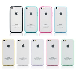 Gearonic Slim Matte Hard PC Cover TPU Frame Hybrid Case For iPhone 5C