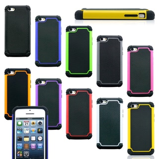 Gearonic 2 Piece Hybrid Hard PC Soft Silicone Back Case For iPhone 5C