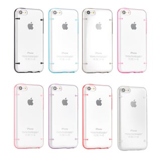 Gearonic Clear Luminous Hard PC and TPU Hybrid Back Case for Apple 5C