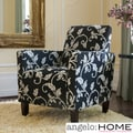 angelo:Home Sutton Black/ White Vine Arm Chair