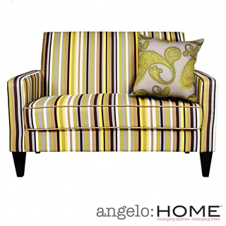 angelo:HOME Sutton Sunflower Yellow Stripe Loveseat