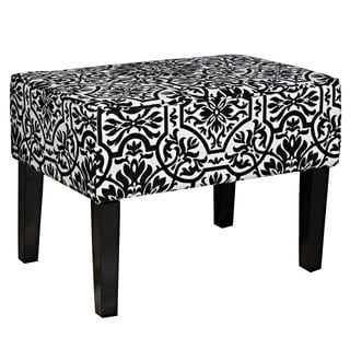 angelo:HOME Brighton Hill Damask Black and White Small Bench