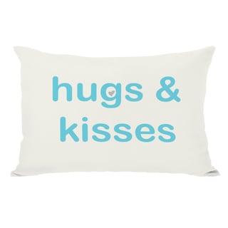 Hugs & Kisses/XO Reversible Throw Pillow