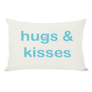 Hugs & Kisses/XO Reversible Throw Pillow