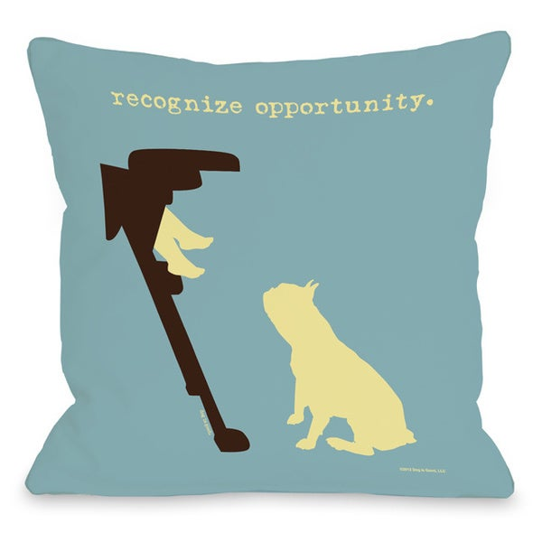 Recognize Opportunity Dog Theme Throw Pillow