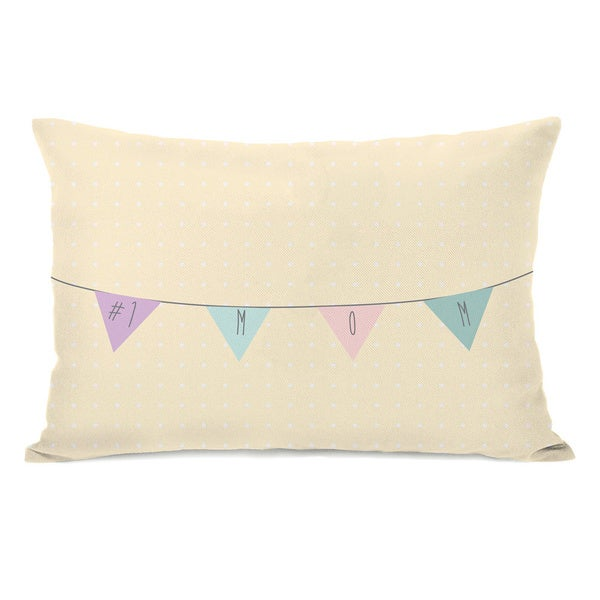 Number 1 Mom Throw Pillow