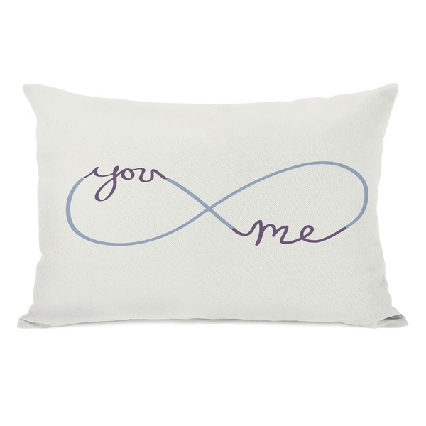 Infinite You Me Grape/Cream Throw Pillow
