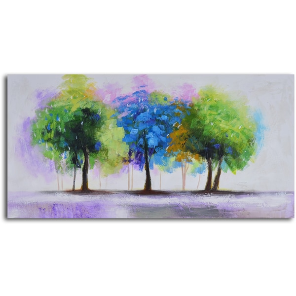 other artwork blue and green copse canvas wall art was. Black Bedroom Furniture Sets. Home Design Ideas