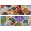 'Colored cells at play' 2-piece Hand Painted Canvas Art