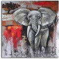 'Elephant encounter' Hand Painted Canvas Art