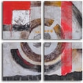 'Four panel loop' 4-piece Hand Painted Canvas Art