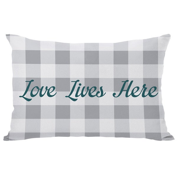 Love Lives Here Throw Pillow