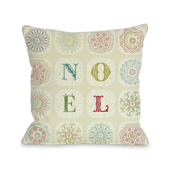 Boho Noel Throw Pillow