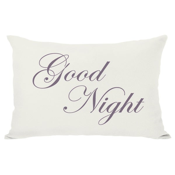 Bonne Nuit or Goodnight Reversible Throw Pillow