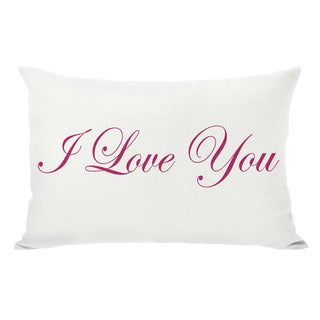 Je T'aime/I Love You Reversible Cream/Red Throw Pillow