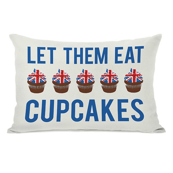 Let Them Eat Cupcakes Throw Pillow