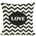 Love Chevron Throw Pillow