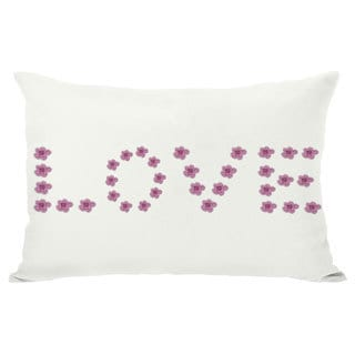 Love Mini Flowers Reversible Throw Pillow