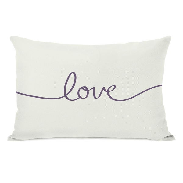 Love Mix & Match - Grape Throw Pillow