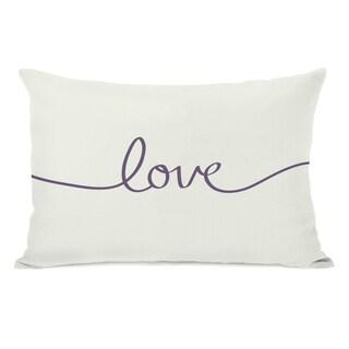 Love Mix & Match - Grape Throw Pillow