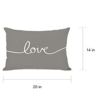 Love Mix & Match - Gray Throw Pillow