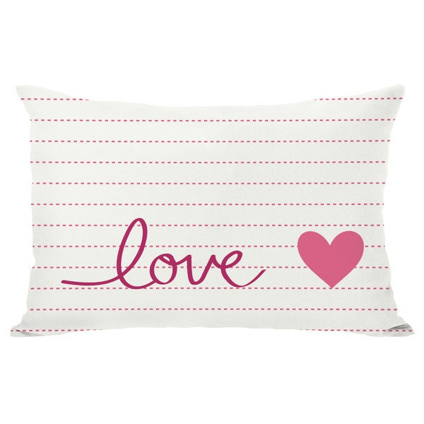 Love on a line Throw Pillow
