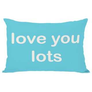 Love You Lots/Love You More Reversible Throw Pillow
