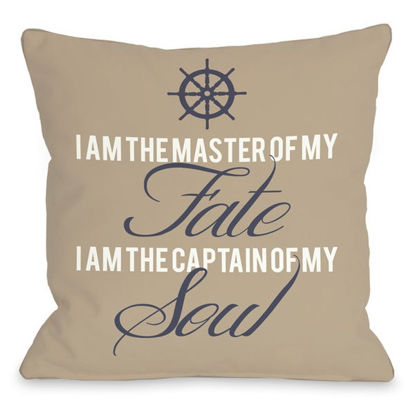 Master of Fate, Captain of Soul Throw Pillow