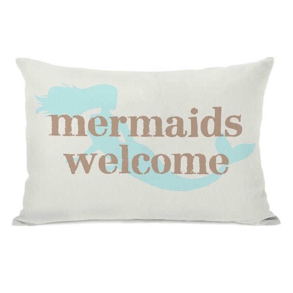 Mermaids Welcome Throw Pillow