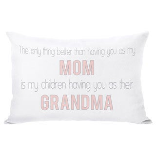 Mom Grandma Throw Pillow