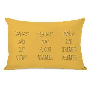 Months Yellow Throw Pillow
