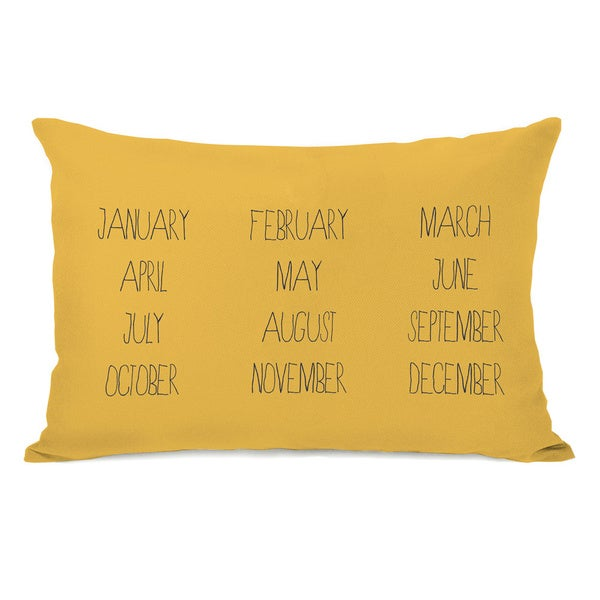 Months Yellow Throw Pillow
