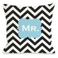 Mr. Chevron Throw Pillow