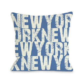 New York All Over Word Throw Pillow