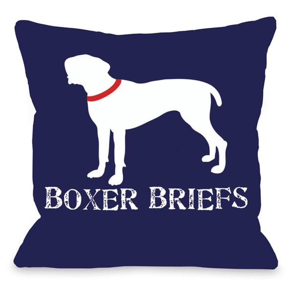 Boxer Briefs Throw Pillow