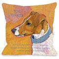 Fox Terrier 1 Throw Pillow
