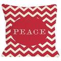 Peace Chevron Stripe Throw Pillow