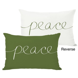 Peace Mix & Match Holiday Throw Pillow