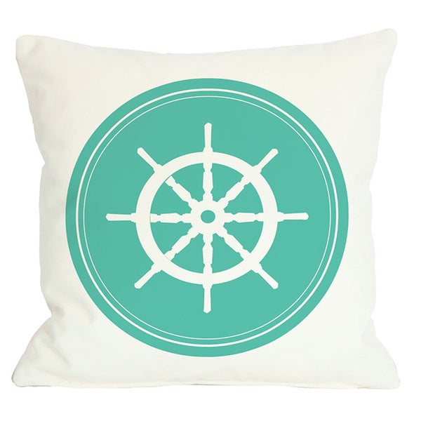 Polka Dot Back Wheel Throw Pillow