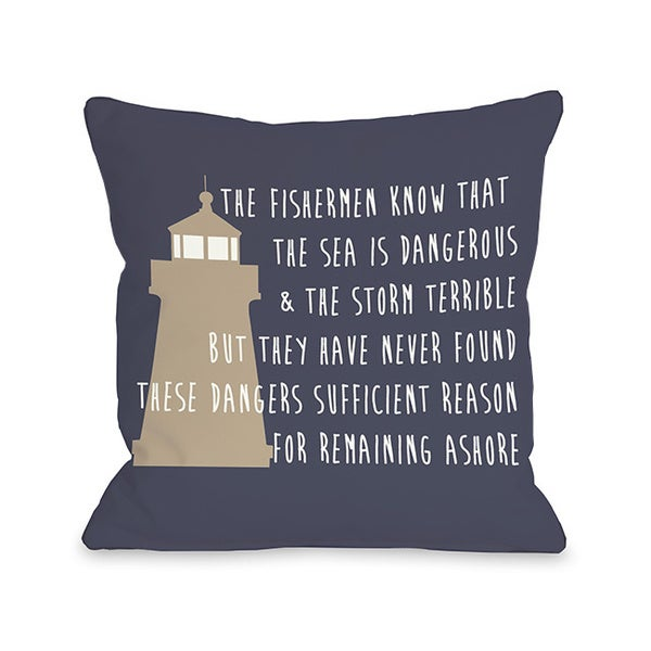 Remain Ashore Throw Pillow