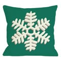 Single Snowflake Throw Pillow