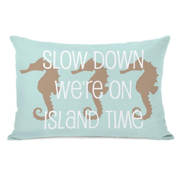 Slow Down on Island Time Throw Pillow
