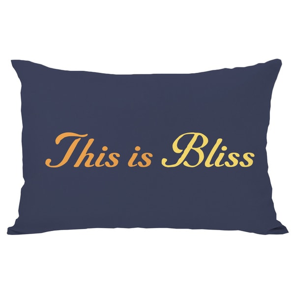 This is Bliss Throw Pillow