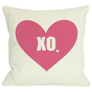 XO with Heart Throw Pillow