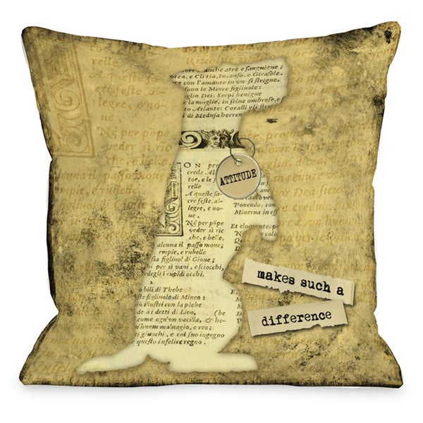 Attitude Makes Such A Big Difference Throw Pillow