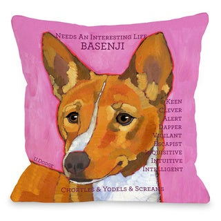 Basenji 1 Throw Pillow