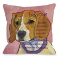 Beagle Dog Decorative Throw Pillow