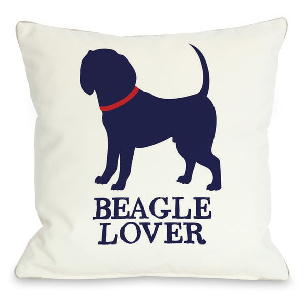 Beagle Lover Throw Pillow