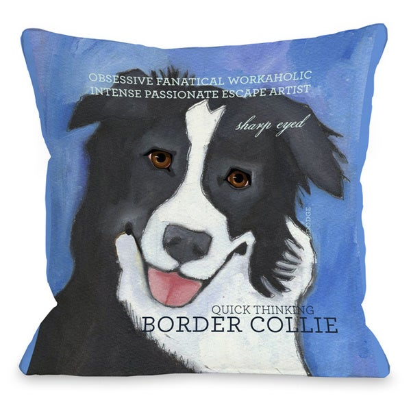 Border Collie Decorative Throw Pillow